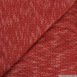 Maille contrasté rouge