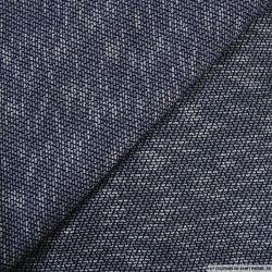 Maille contrasté bleu
