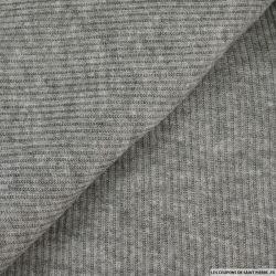 Maille tricot côtelé gris