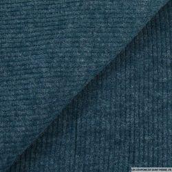 Maille tricot côtelé pétrole
