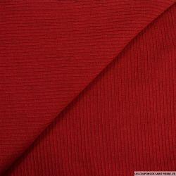 Maille tricot côtelé rouge