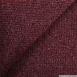 Maille tricot côtelé lie de vin