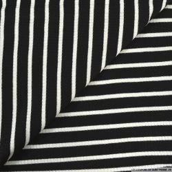 Maille rayé marin noir et blanc