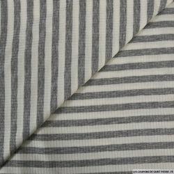 Maille rayé large gris et blanc