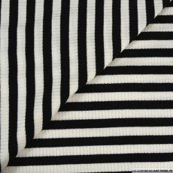 Maille rayé large noir et blanc
