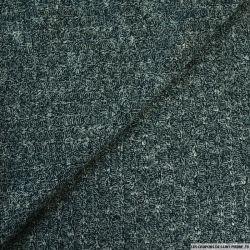 Maille tricot côtelé vert chiné