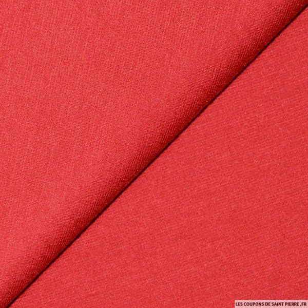 Tissu Maille Milano Polyester Rouge