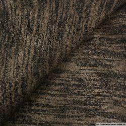 Maille chinée gris brun