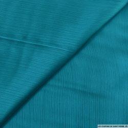 Mousseline satiné crinkle turquoise