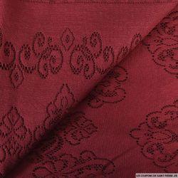 Dentelle jersey rouge bordeaux