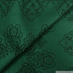 Dentelle jersey vert sapin