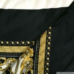 Jersey imprimé prestige noir et or