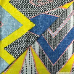 Jersey imprimé signalétique multicolore