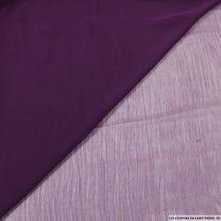 Crêpe georgette violet zinzolin
