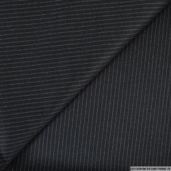 Maille rayée fond noir