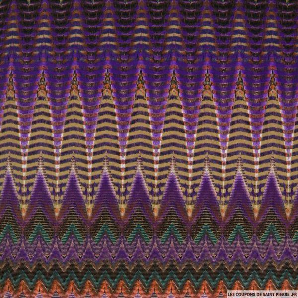 Jersey imprimé zigzag violet