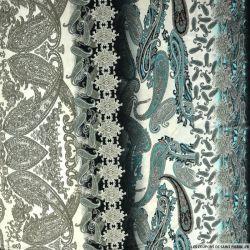 Jersey imprimé cachemire turquoise