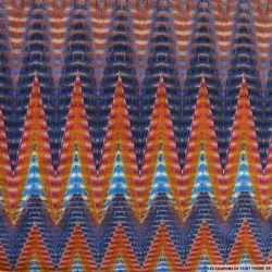 Jersey imprimé géométrie multicolore