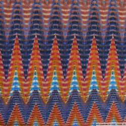 Jersey imprimé zigzag multicolore