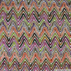 Dentelle zigzag multicolore