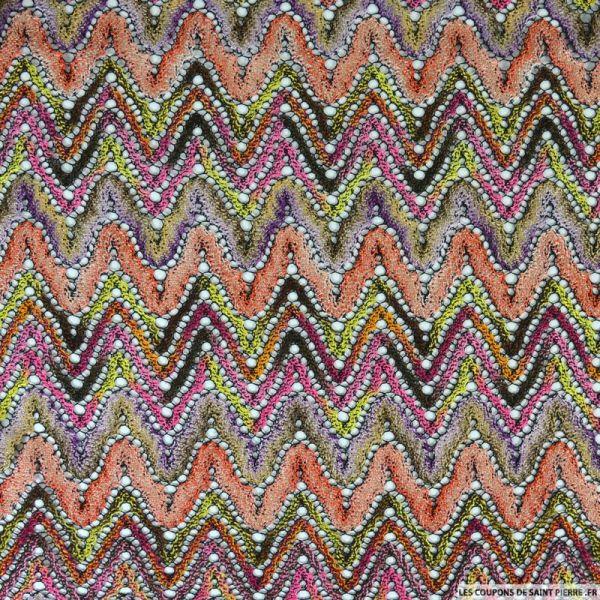 Dentelle zigzag multicolore