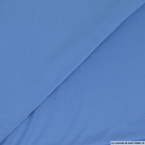 Jersey polyester bleu