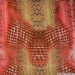 Mousseline imprimé peau de serpent multicolore