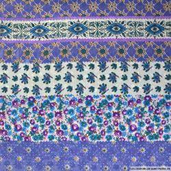 Crêpe georgette imprimé fleuris violet