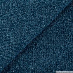 Maille tricot lurex bleu pétrole