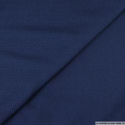 Jersey texturé polyester marine