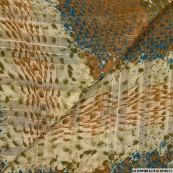 Dévoré polyester irisé python