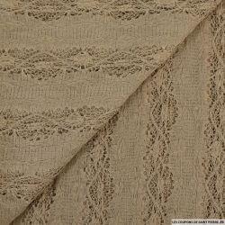 Dentelle rachel sophie marron gris