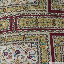 Mousseline imprimé rayé irisé labyrinthe