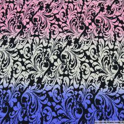 Jersey imprimé fleurs de lys multicolore