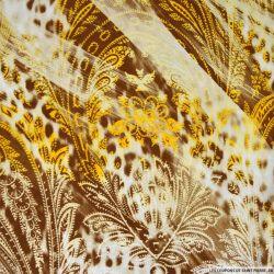 Jersey imprimé cachemire blé