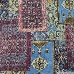 Crêpe polyester imprimée tapis persan