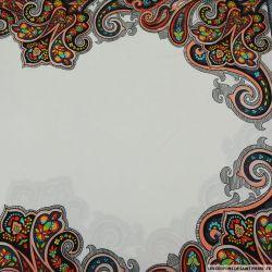 Jersey imprimé panneaux aztèques fond blanc