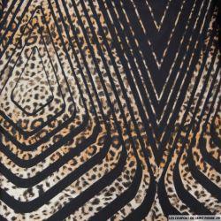 Jersey imprimé sauvage fond noir