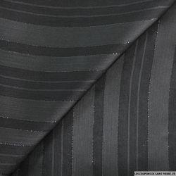 Polyester ajouré rayé noir