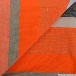Jersey rayé polyviscose flashy orange
