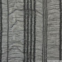 Voile polyester brodé à sequins noir