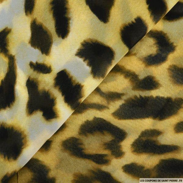Mousseline imprimée tie and dye safari
