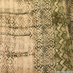 Mousseline bande satin lurex reptile flou nude