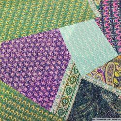 Mousseline rayé irisé patchwork de tapis