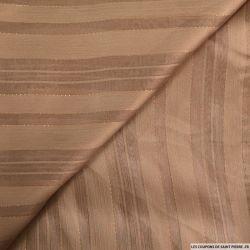 Polyester ajouré rayé marron