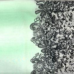 Mousseline imprimé fleurs et fleurs verre d'eau
