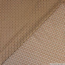 Faux daim perforé polyester marron
