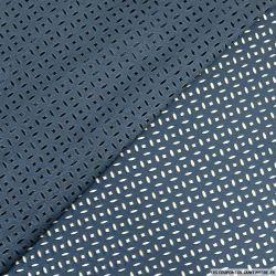 Faux daim perforé polyester bleu