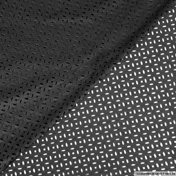 Faux daim perforé polyester noir