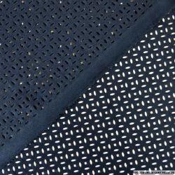 Faux daim perforé polyester marine